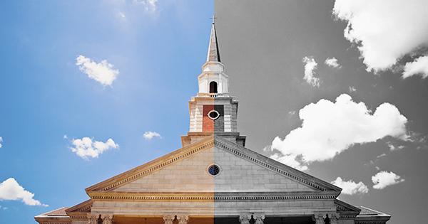 church_split_colorbw_lightstock